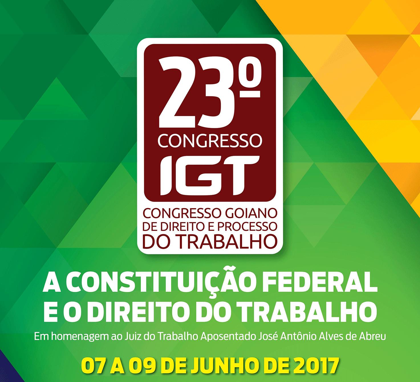 07 a 09.06 - 23º Congresso Goiano de Direito e Processo do Trabalho