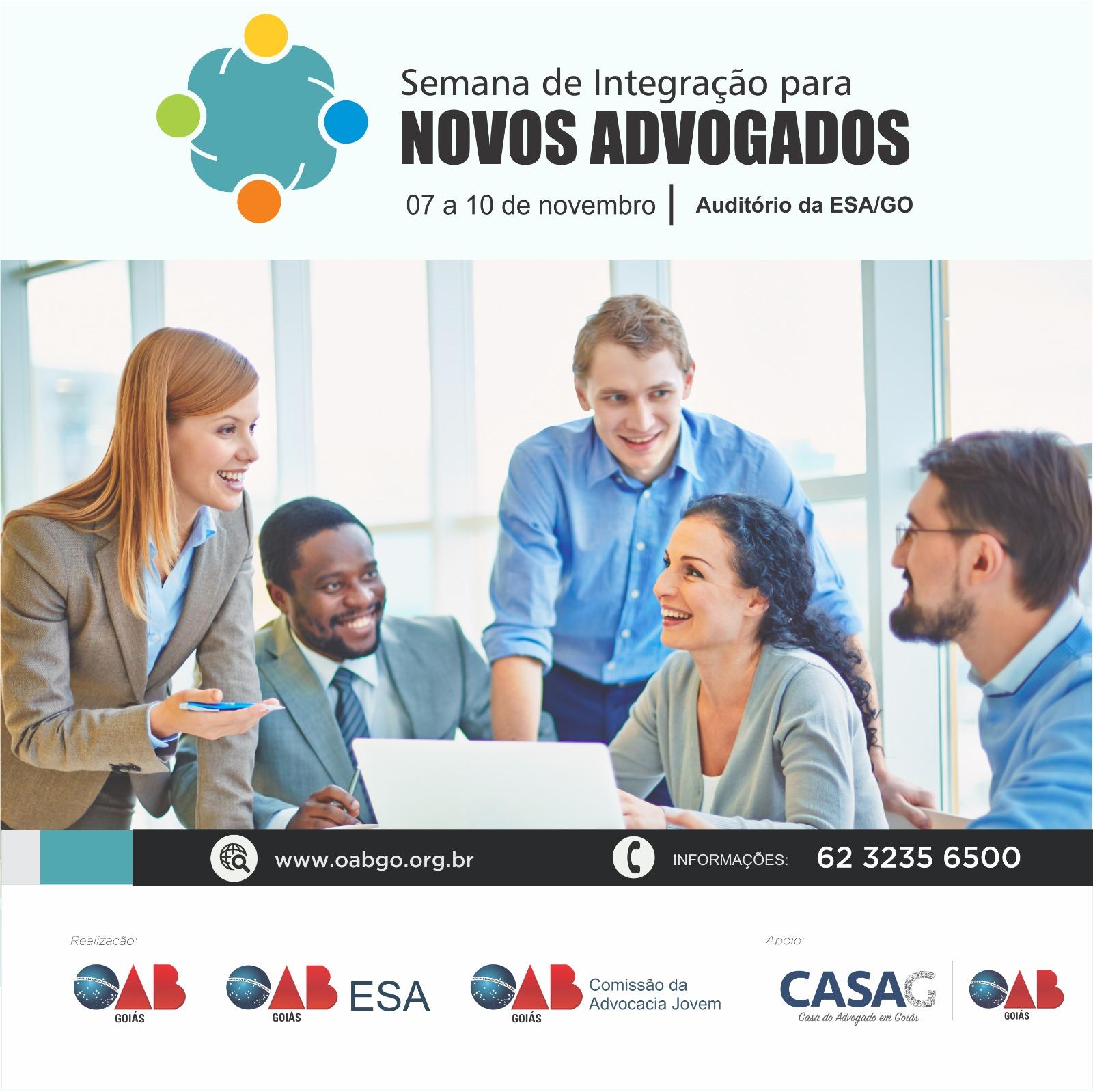 07 a 10/11 - Semana de Integração para Novos Advogados