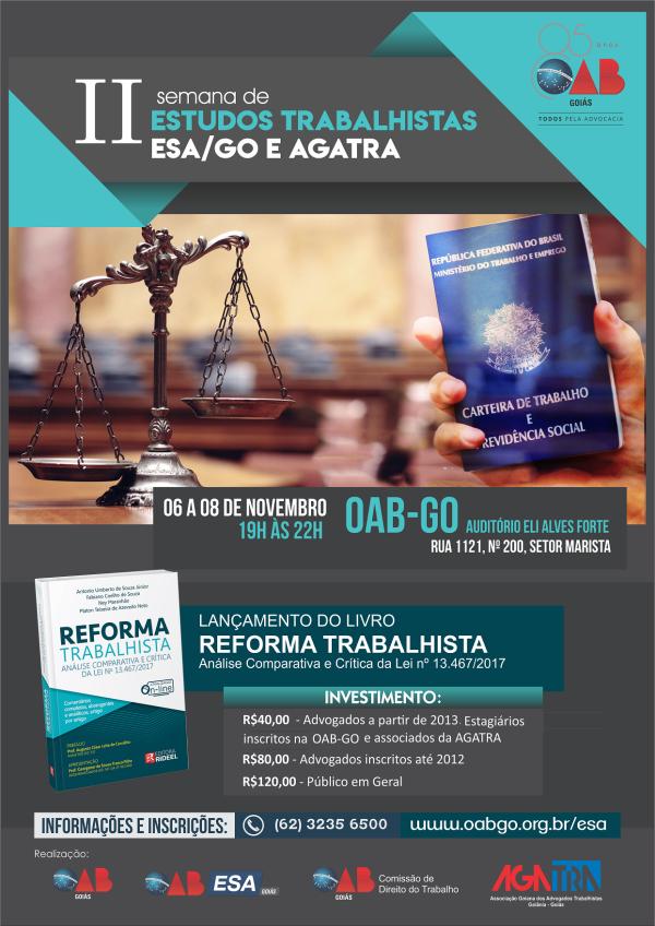06 a 08.11 - II Semana de Estudos sobre a Reforma Trabalhista
