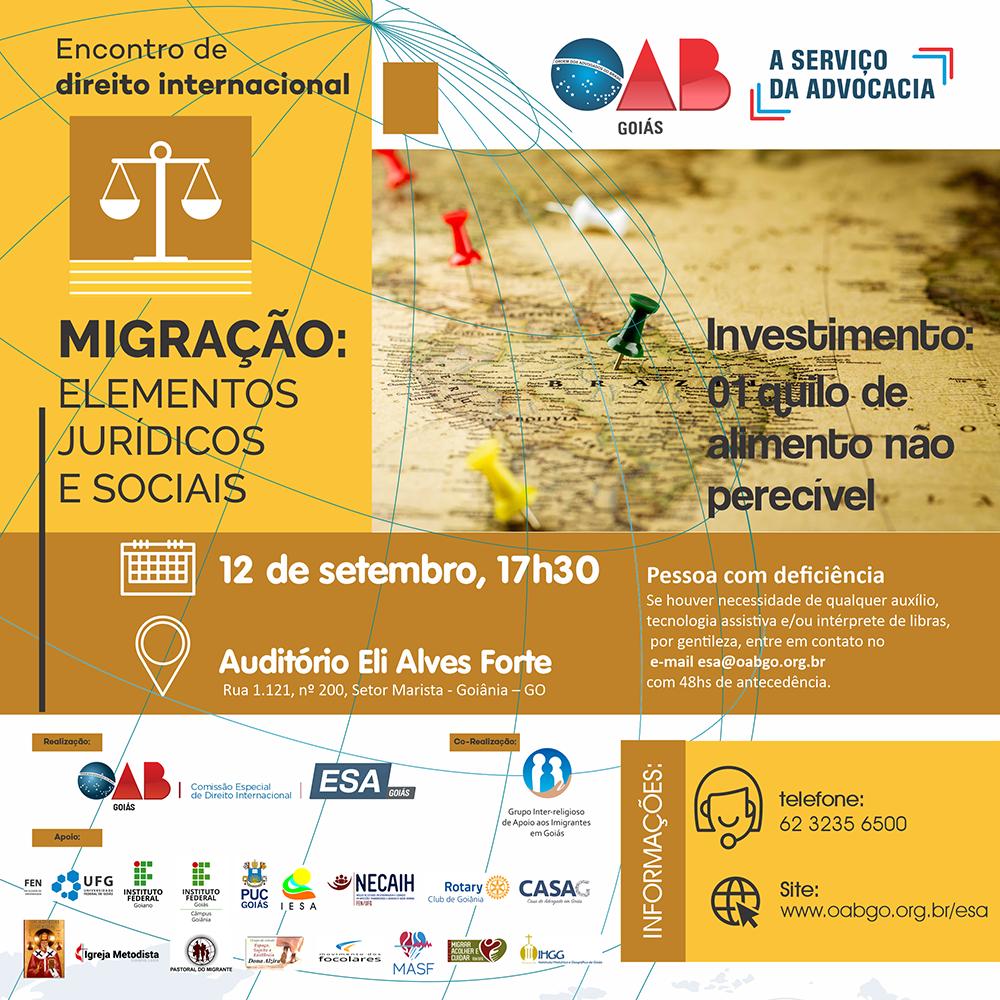 12.09 - Encontro de Direito Internacional - Migração: Elementos Jurídicos e Sociais