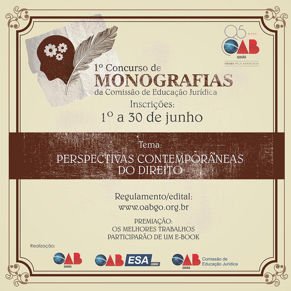 1º Concurso de Monografias da CEJur