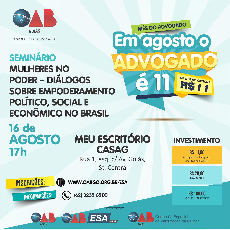 16.08 - Seminário Mulheres no Poder  - Diálogos sobre Empoderamento Político, Social e Econômico no Brasil