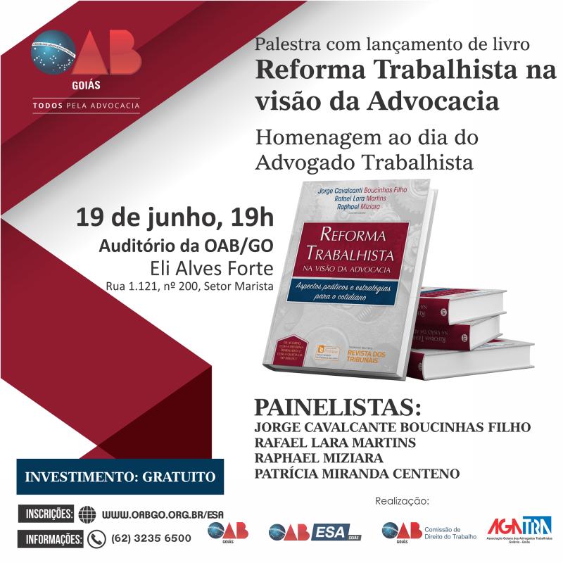 OAB/ESA e Agatra promovem evento em homenagem ao Dia do Advogado Trabalhista
