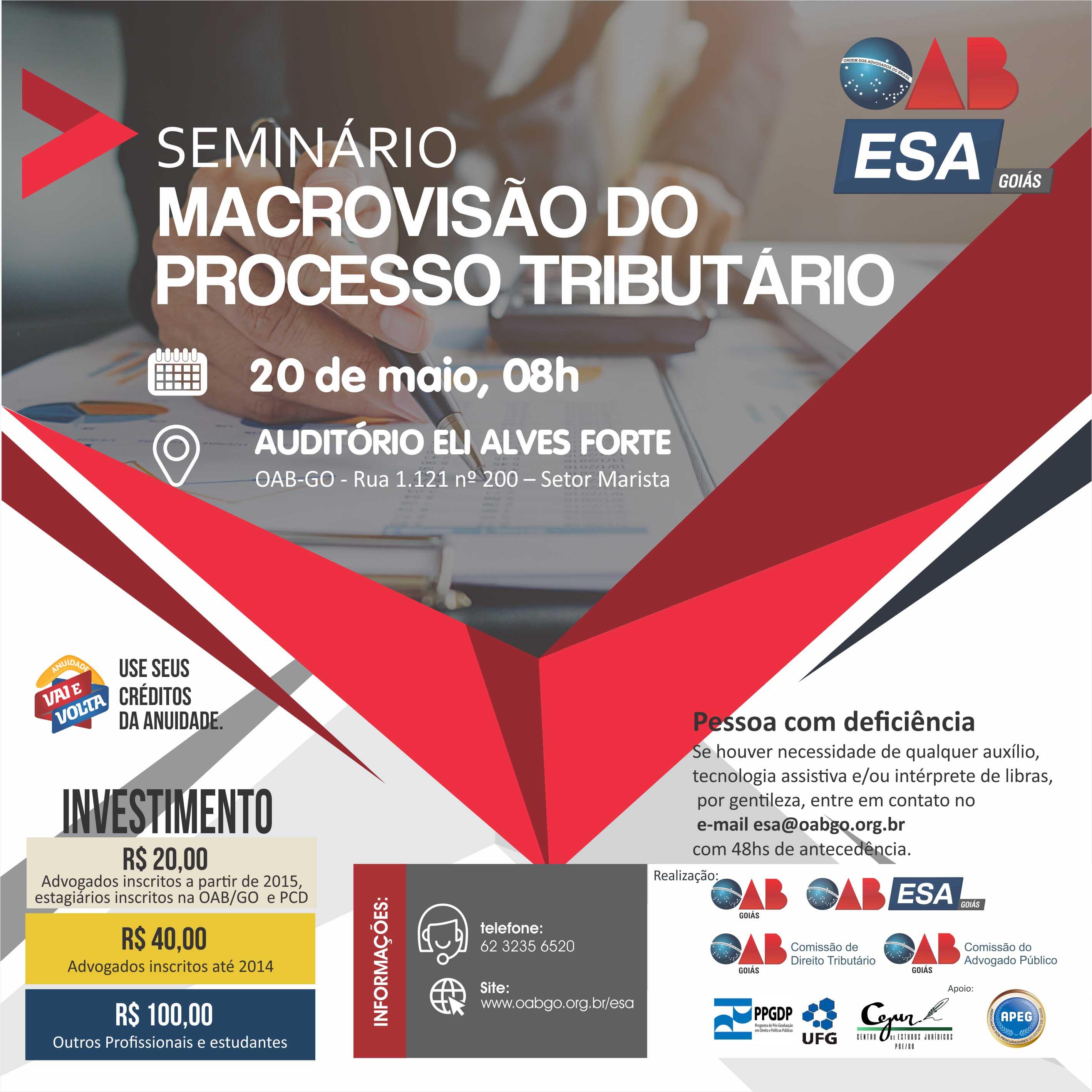 20.05 - Seminário Macrovisão do Processo Tributário