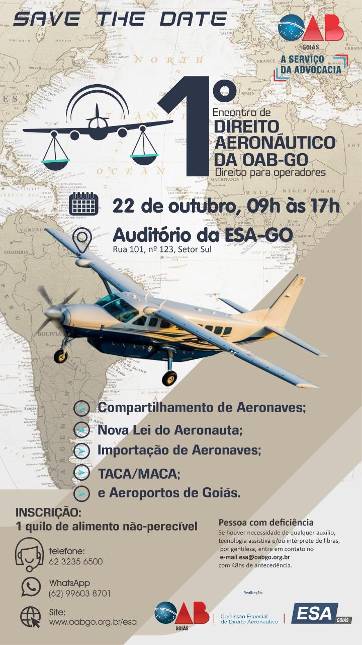OAB-GO realiza 1° Encontro Aeronáutico e discute aeroportos em Goiás