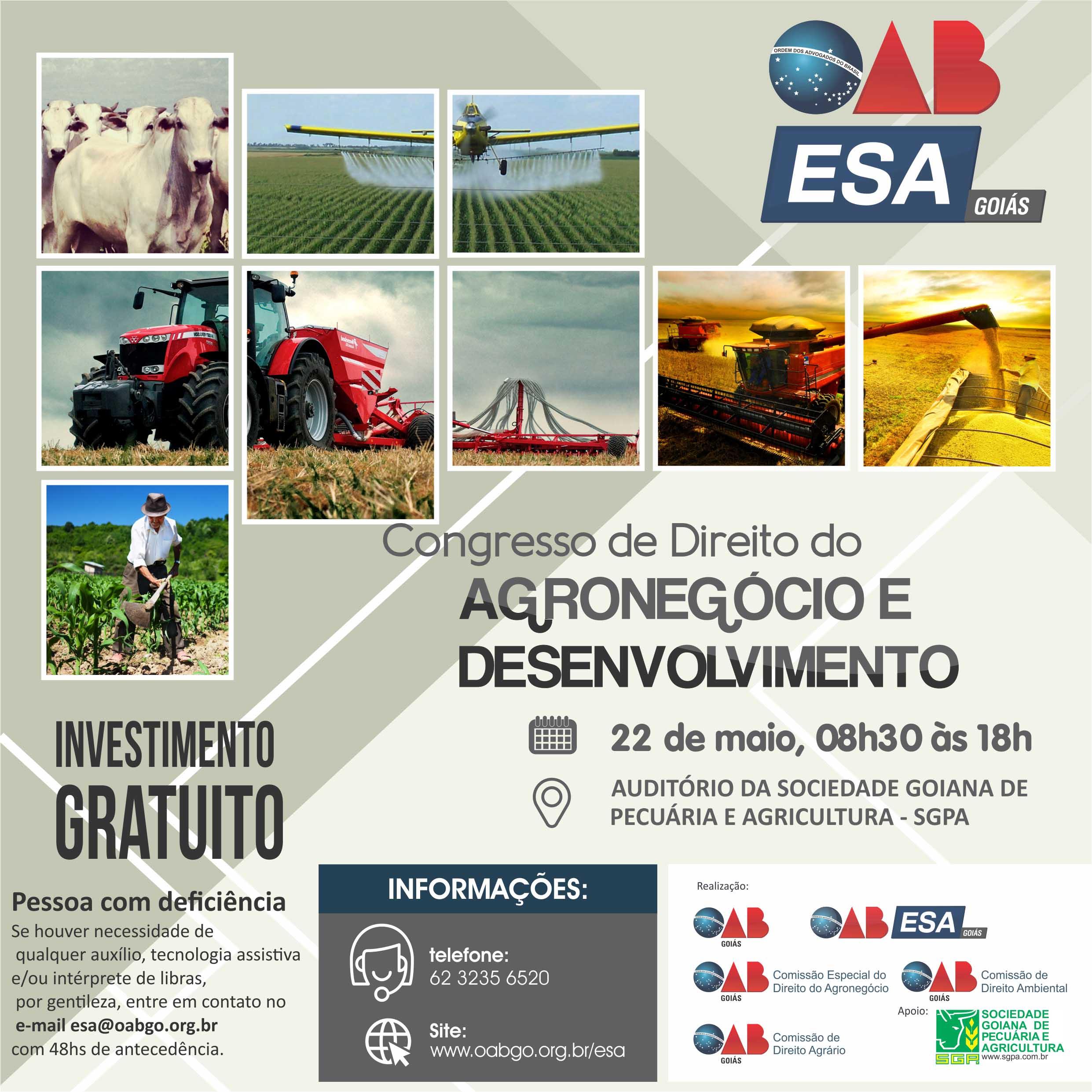22.05 - Congresso de Direito do Agronegócio e Desenvolvimento