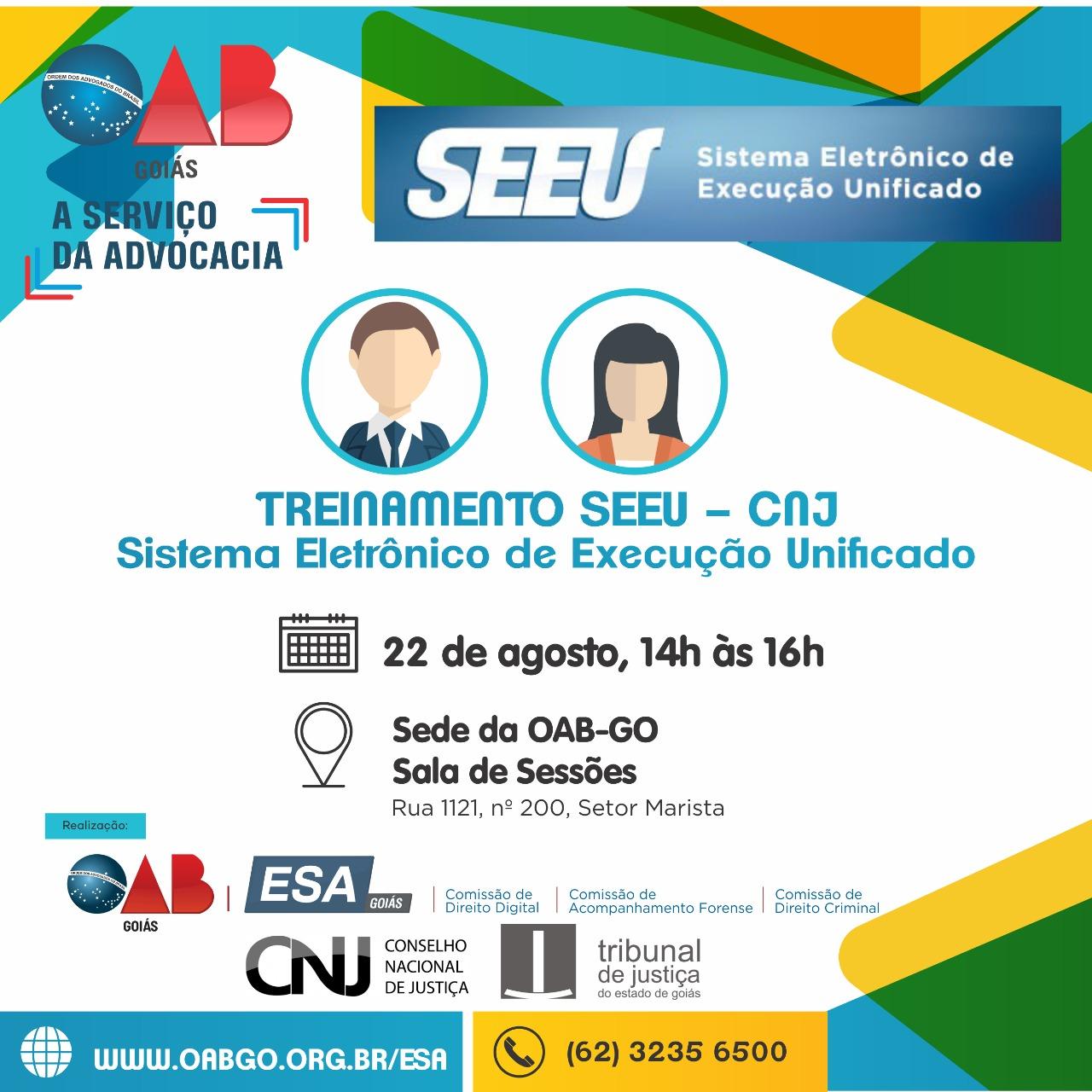 22.08 - Treinamento SEEU - Sistema Eletrônico de Execução Unificado