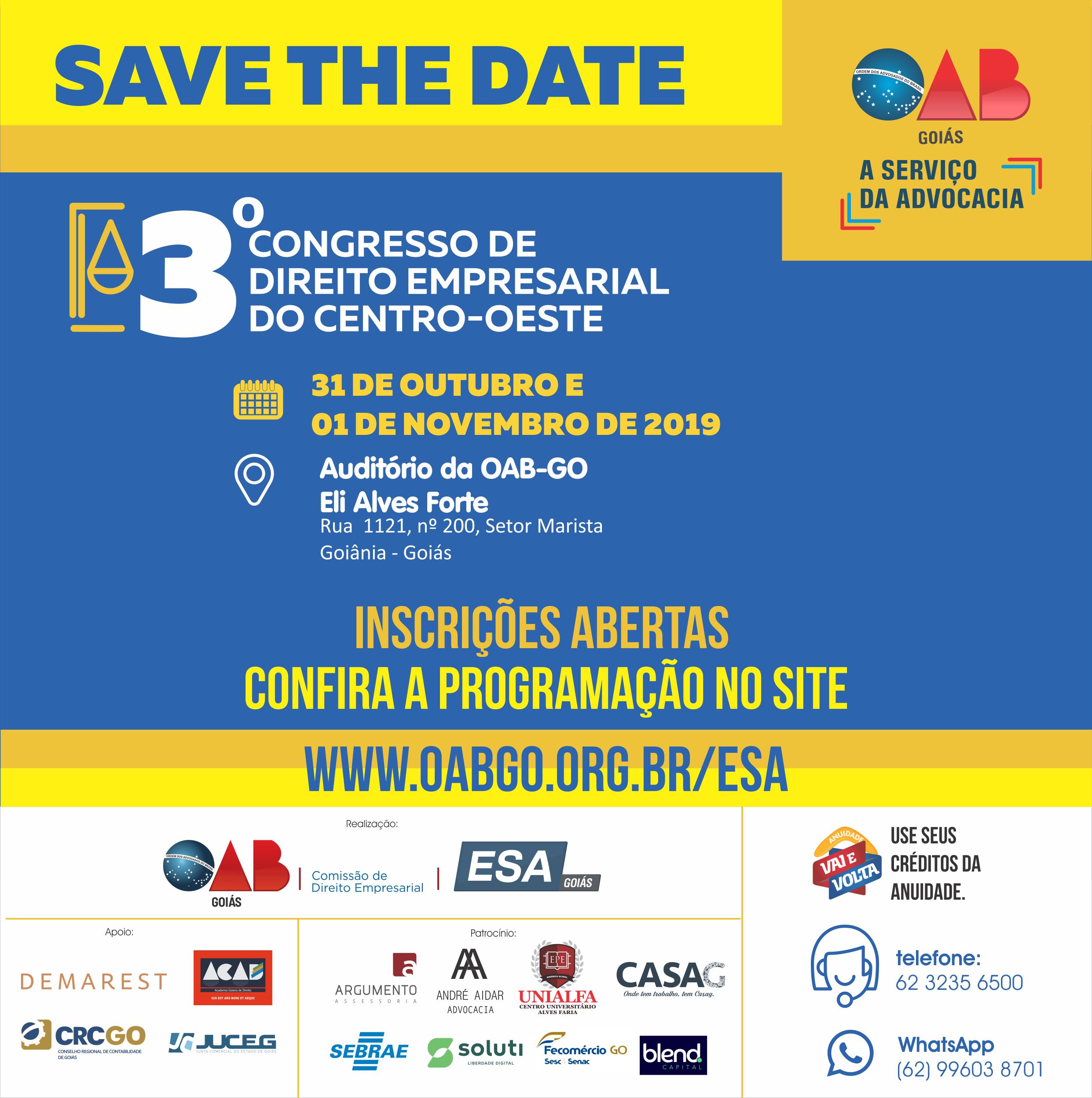 31.10 e 01.11 - 3º Congresso de Direito Empresarial