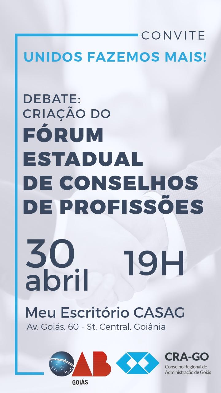 30.04 - Debate: Criação do Fórum Estadual de Conselhos de Profissões