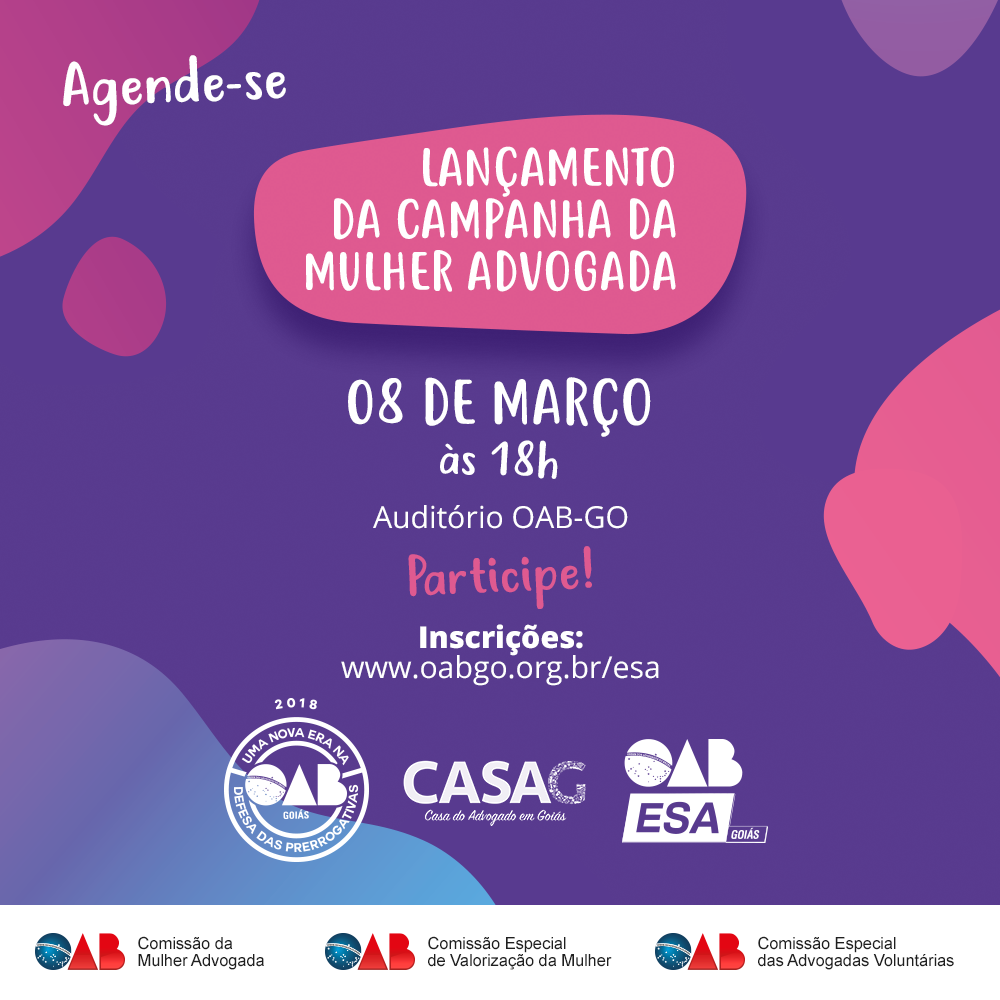 08.03 - Lançamento da Campanha da Mulher Advogada