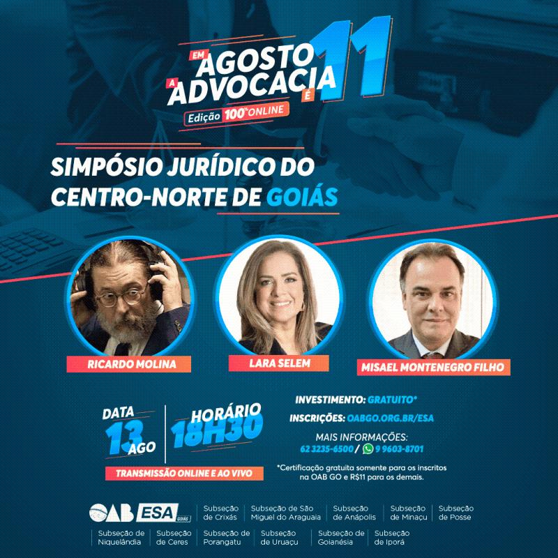 ESA-GO realiza Simpósio Jurídico do Centro-Norte de Goiás