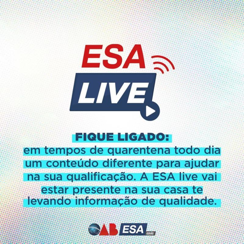 ESA LIVE traz alternativa de qualificação para a advocacia com transmissões ao vivo pelo Instagram