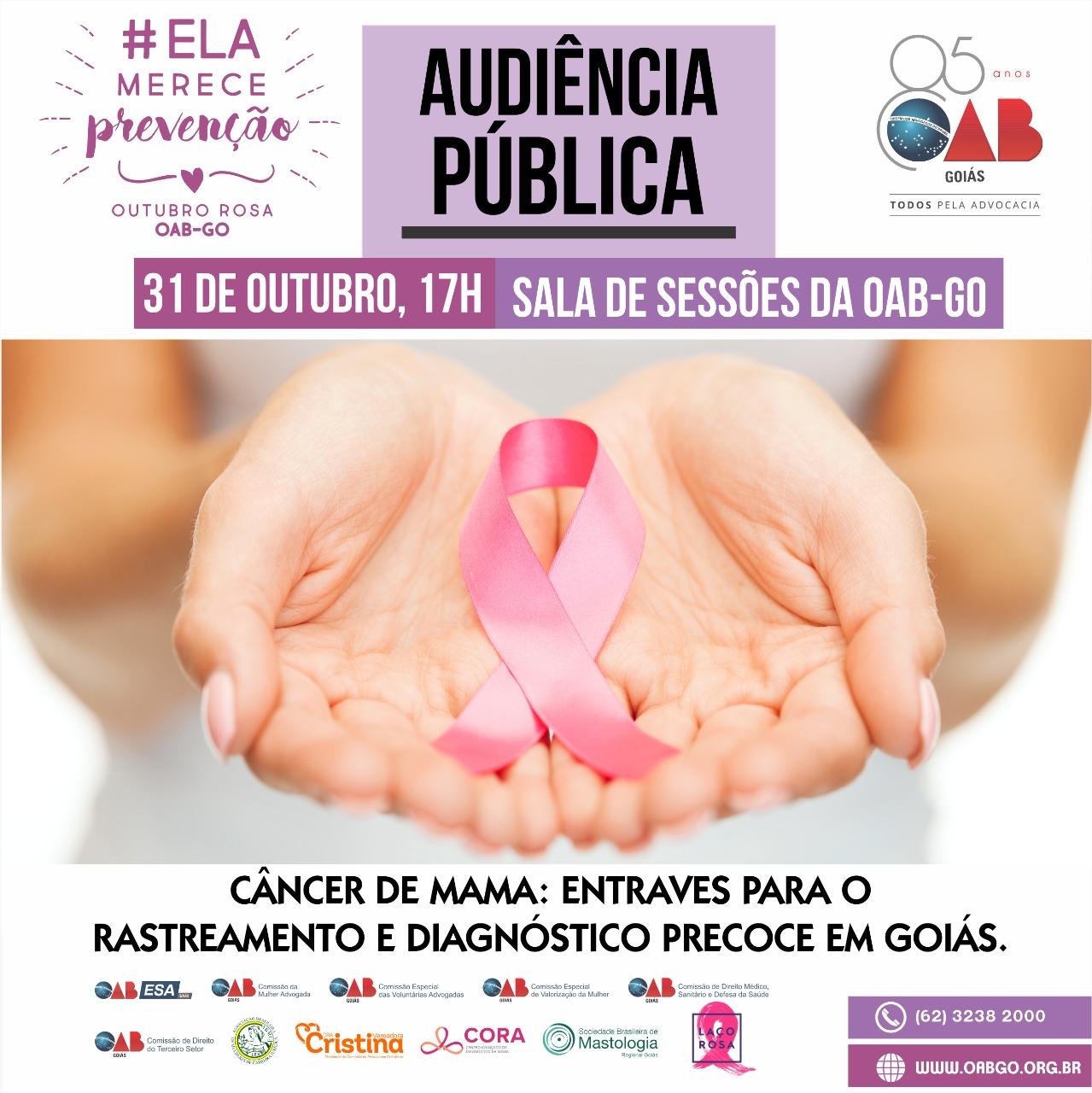 31.10 - Audiência Pública - Câncer de Mama: Entraves para o Rastreamento e Diagnóstico Precoce em Goiás