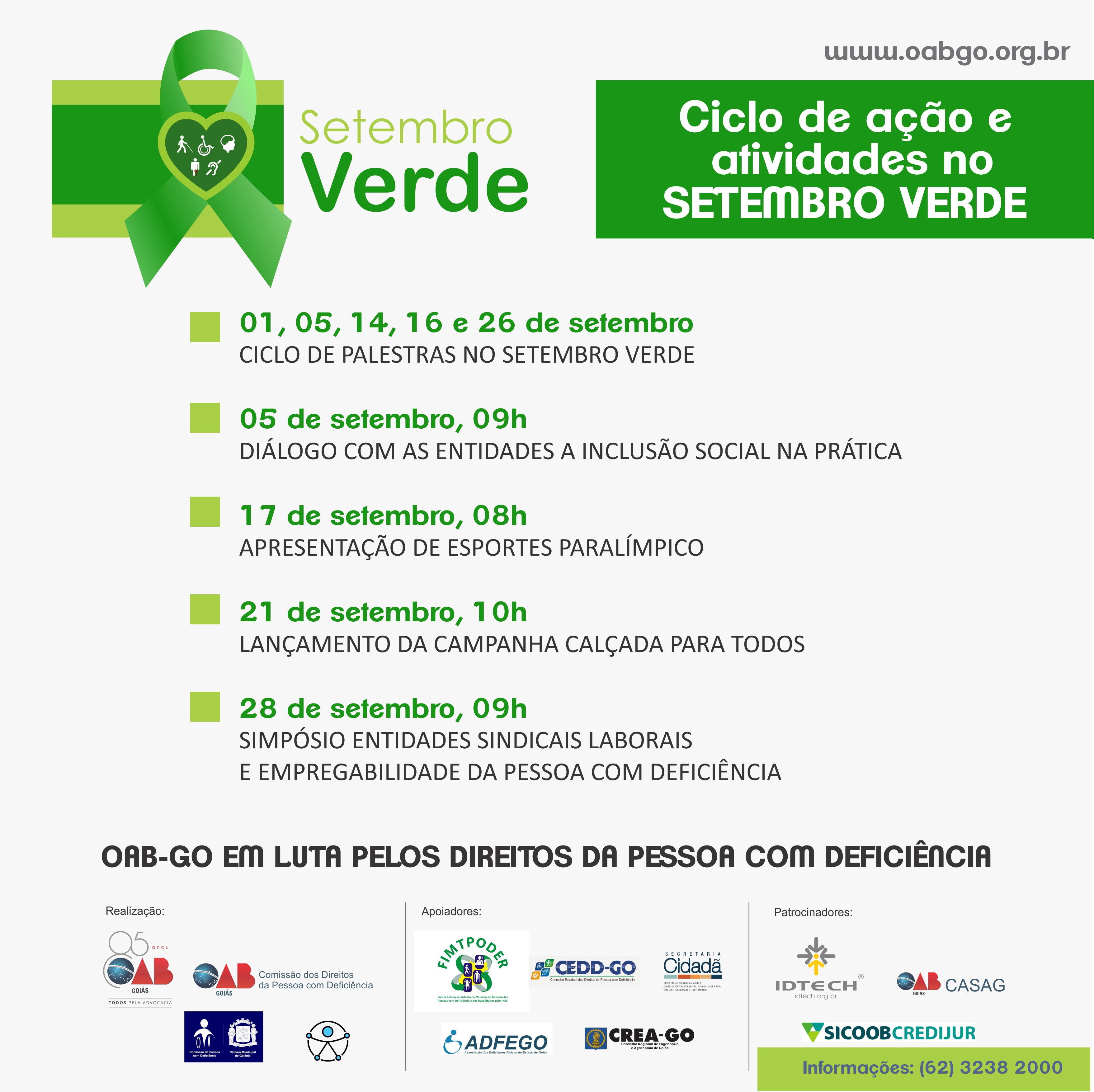 Campanha Setembro Verde - Ciclo de Ação e Atividades