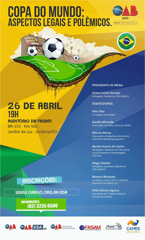 CDD debate aspectos legais e polêmicos da Copa do Mundo