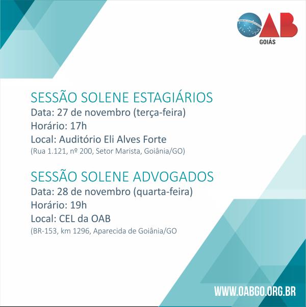 27 e 28.11 - Sessões Solenes