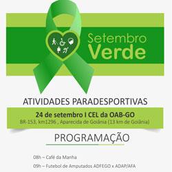 Setembro Verde | Atividades paradesportivas (24/09)
