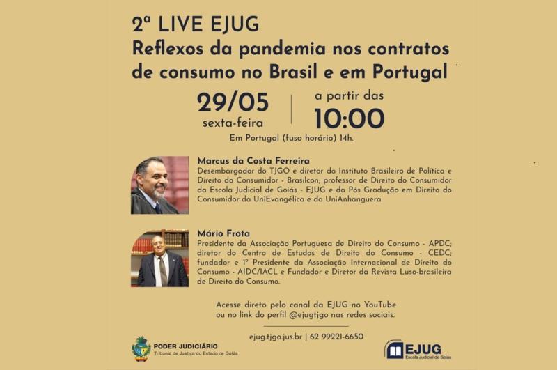 Jurista português Mário Frota participa da Ejug live nesta sexta-feira