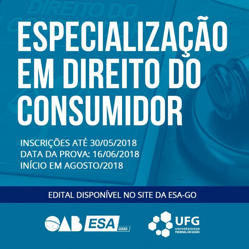Inscrições para especialização em Direito do Consumidor encerram dia 30