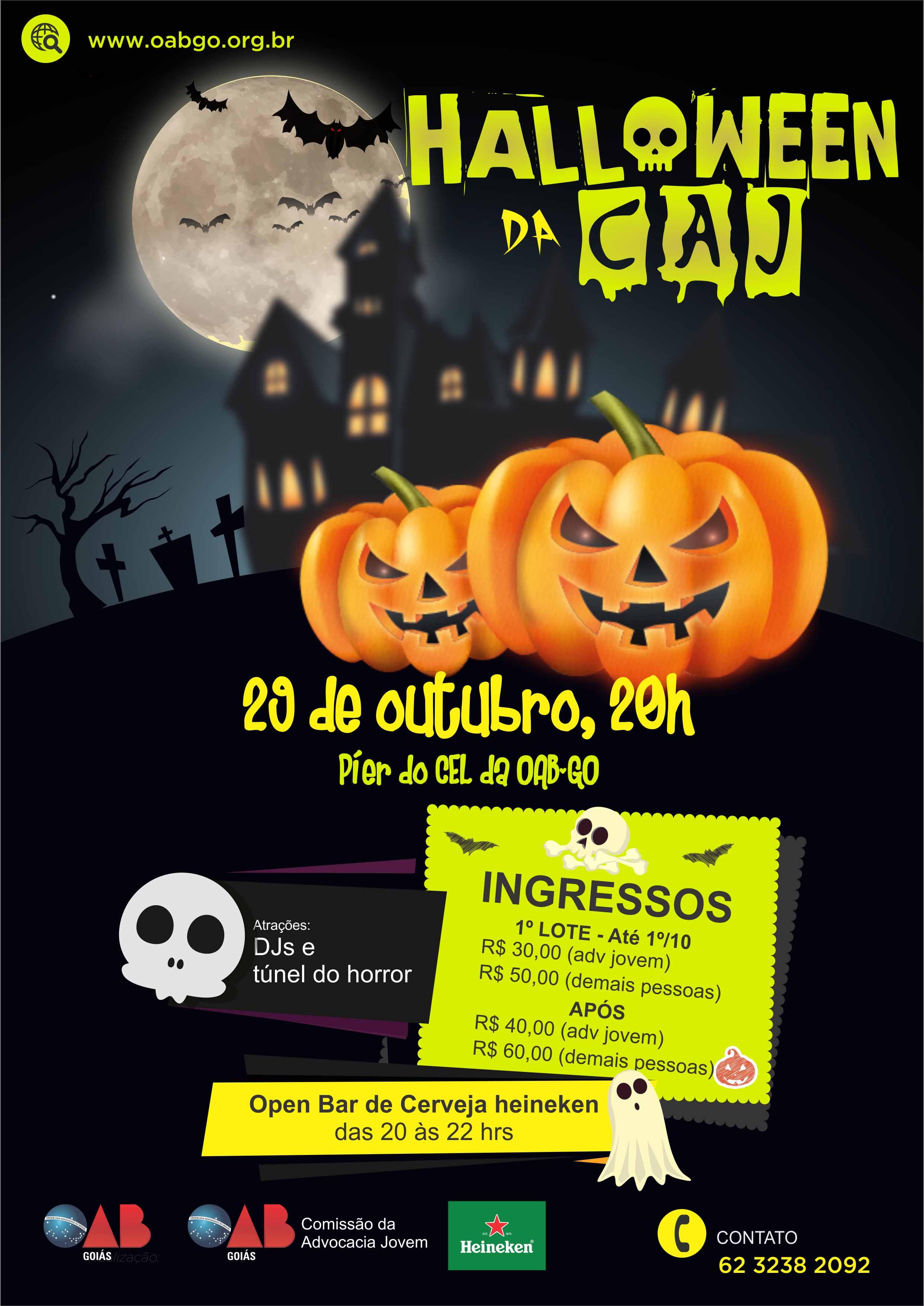 1º Halloween da CAJ promete noite animada e de integração no CEL da OAB