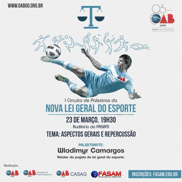 23.03 - I Circuito de Palestras - Nova Lei Geral do Esporte