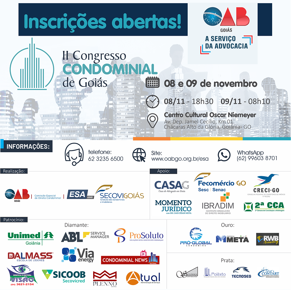 08 e 09.11 - II Congresso Condominial de Goiás