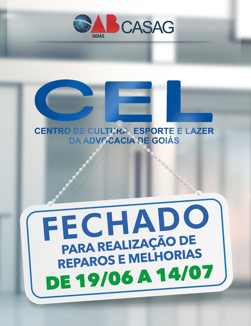 CEL fechará para manutenção predial e reparos técnicos