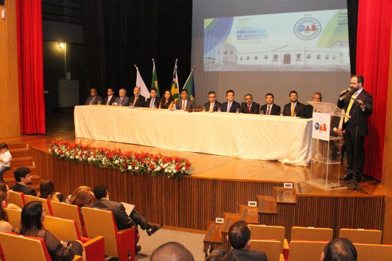 Cidade de Goiás recebe 38º Colégio de Presidentes de Subseções