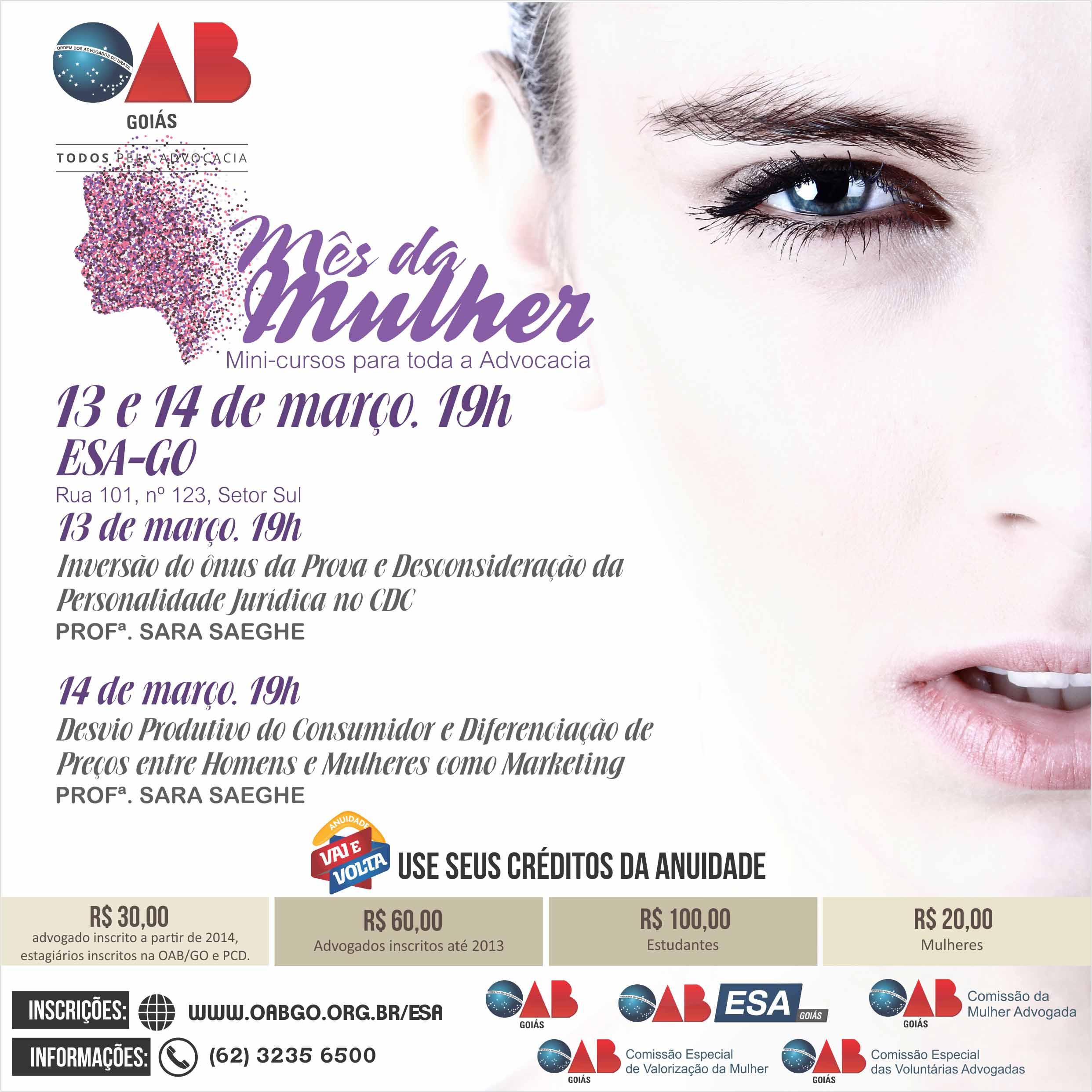 13 e 14.03 - Mês da Mulher - Mini-Curso Direito do Consumidor