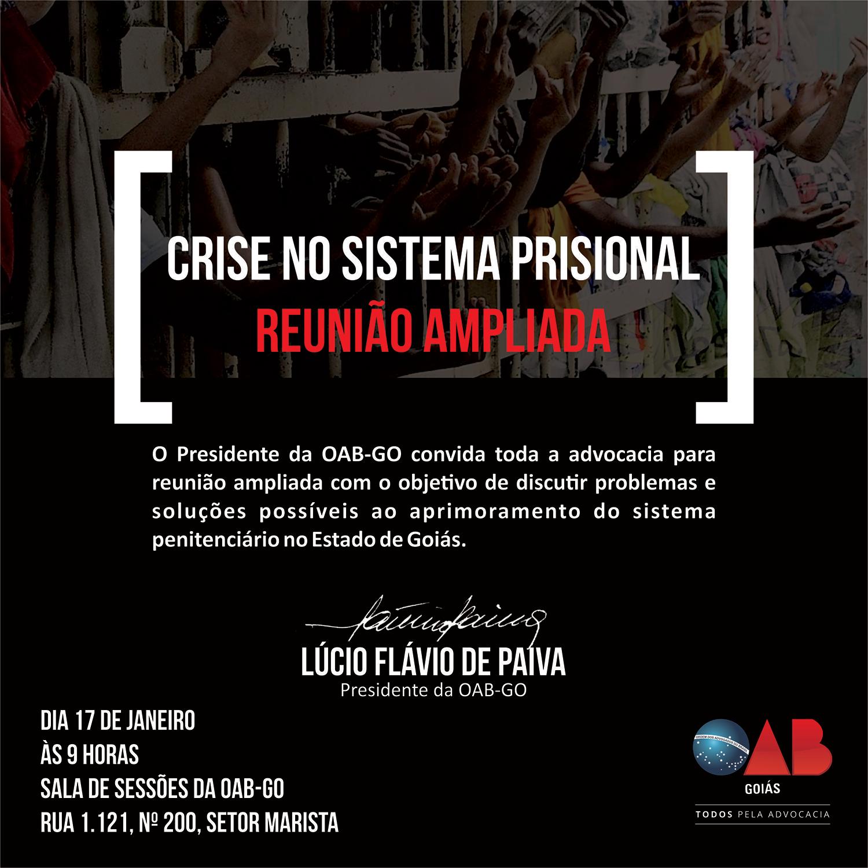 17/01 - Crise no Sistema Prisional - Reunião Ampliada