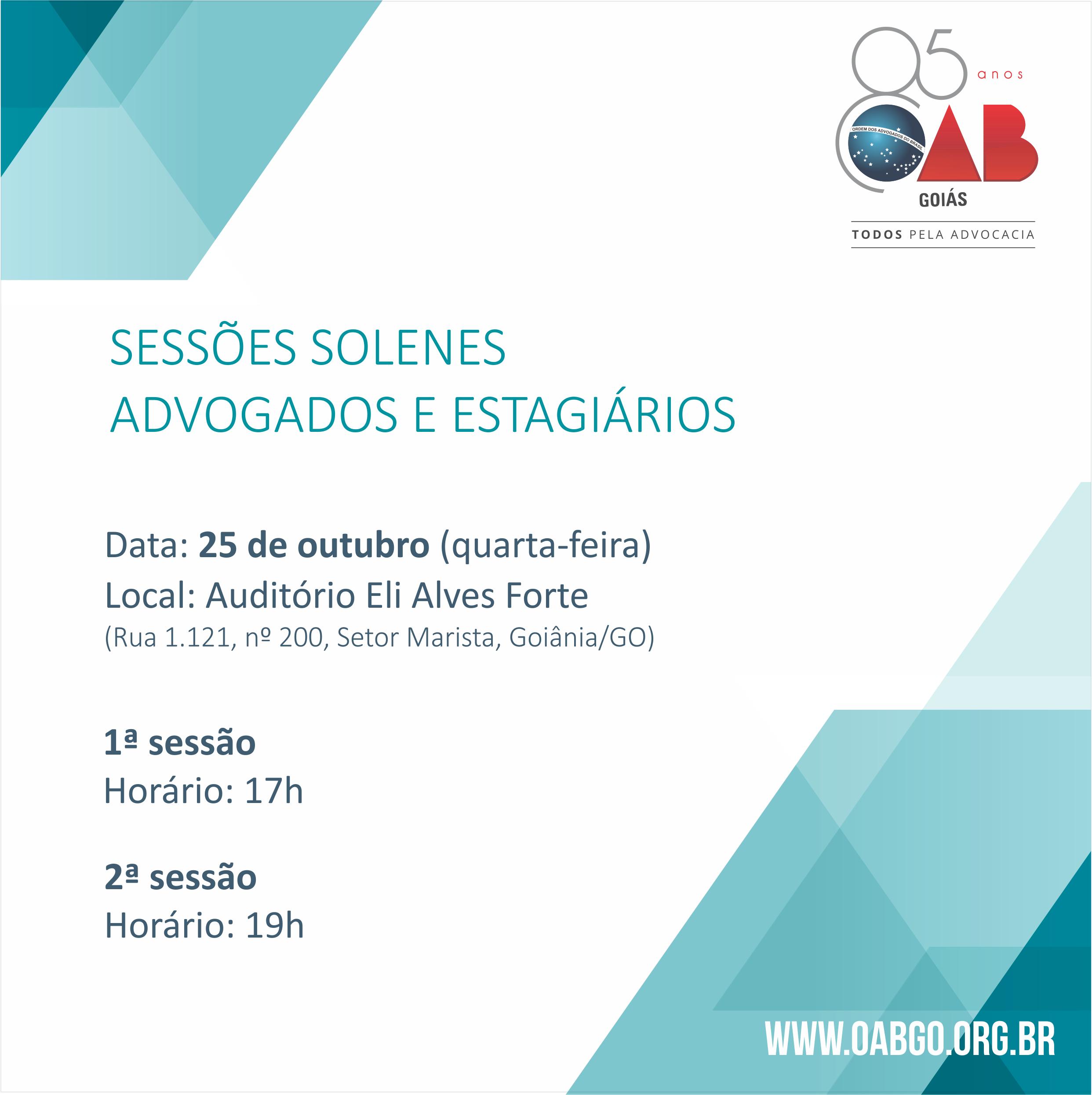 25.10 - Sessões Solenes