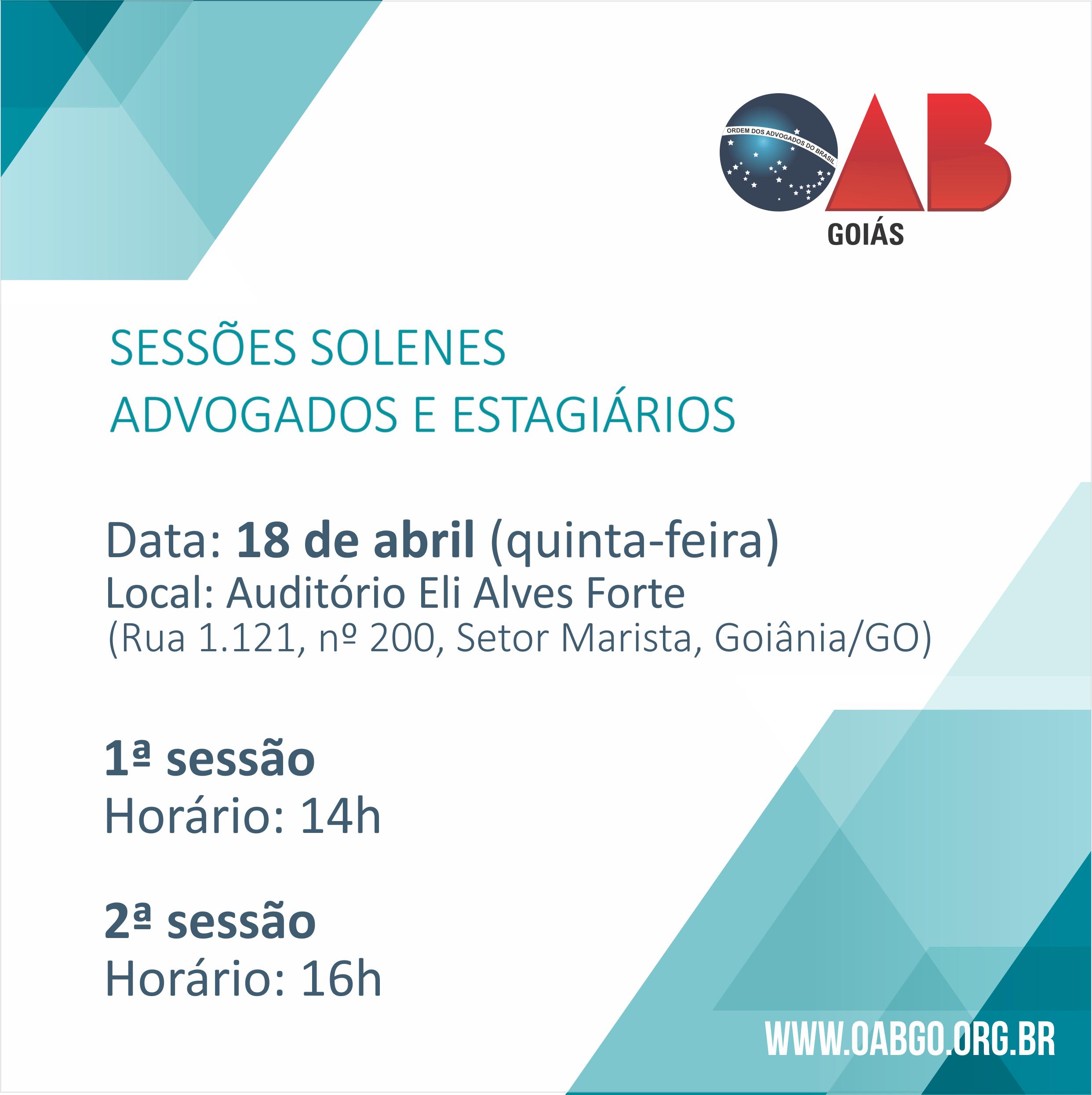 18.04 - Sessão Solene - Advogados e Estagiários