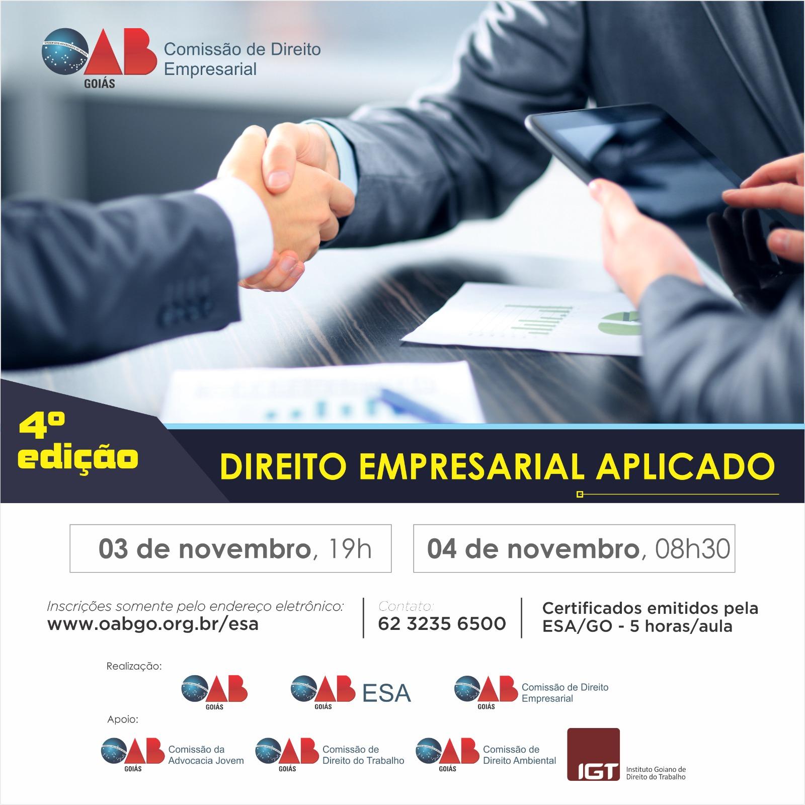 03 e 04/11 - Direito Empresarial Aplicado