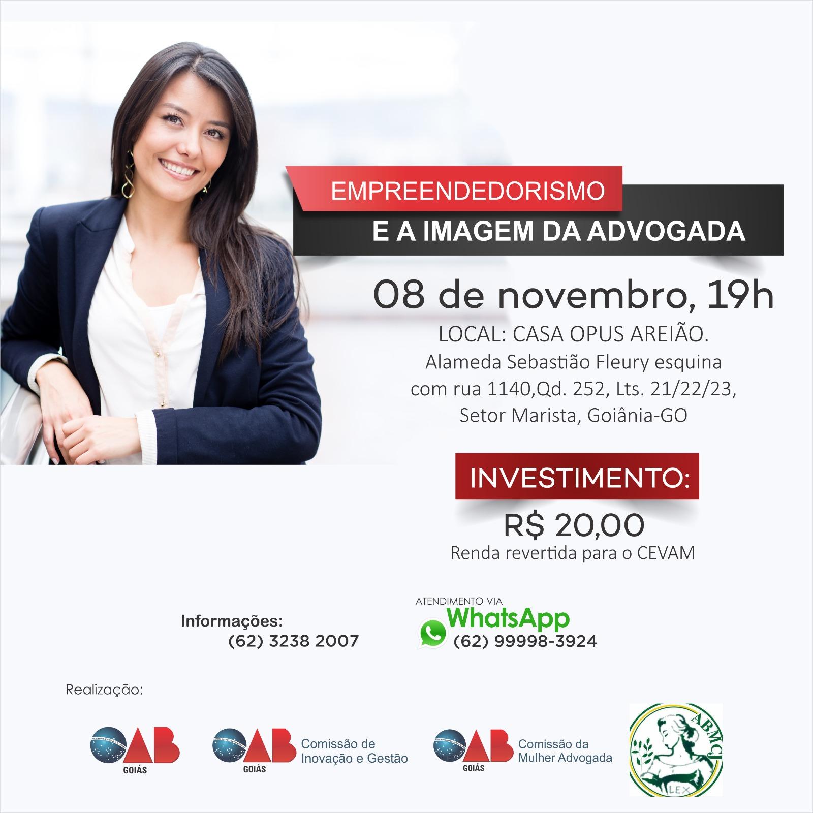 08/11 - Palestra Empreendedorismo e a Imagem da Advogada