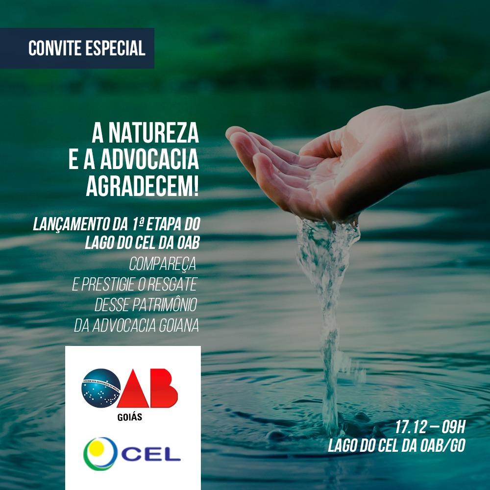 17/12 - Lançamento da 1ª etapa do lago do CEL