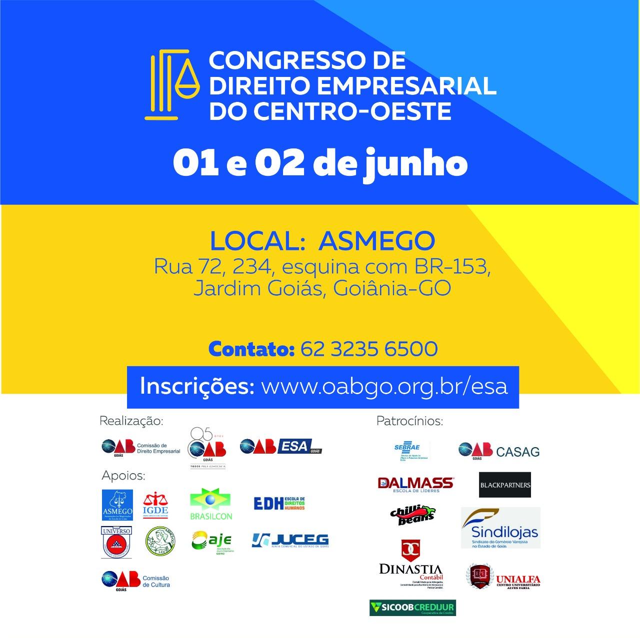 01 e 02.06 - Congresso de Direito Empresarial do Centro-Oeste