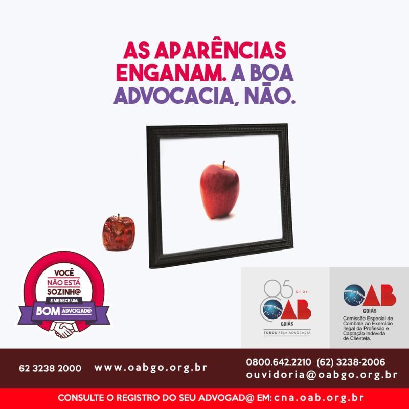OAB-GO lança campanha contra exercício ilegal da profissão