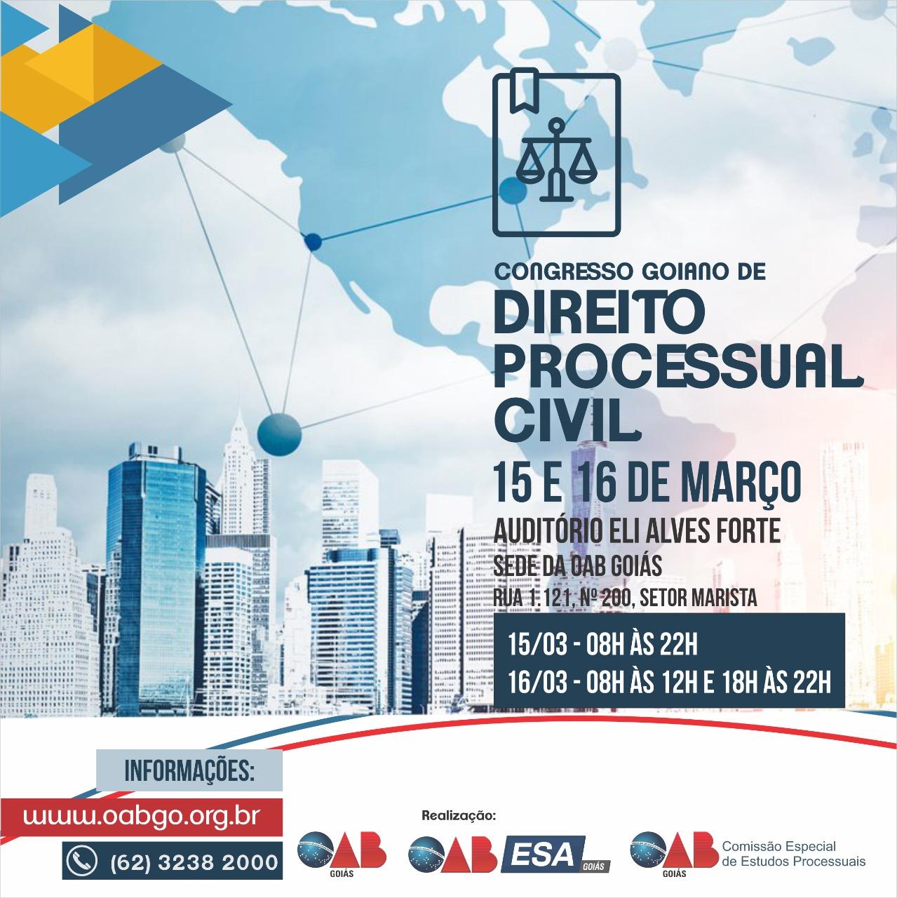 15 e 16.03 - Congresso Goiano de Direito Processual Civil