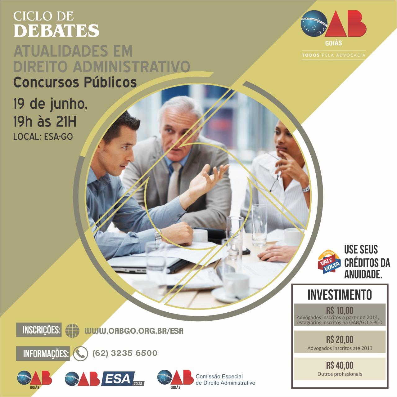 19.06 - Ciclo de Debates - Concursos Públicos