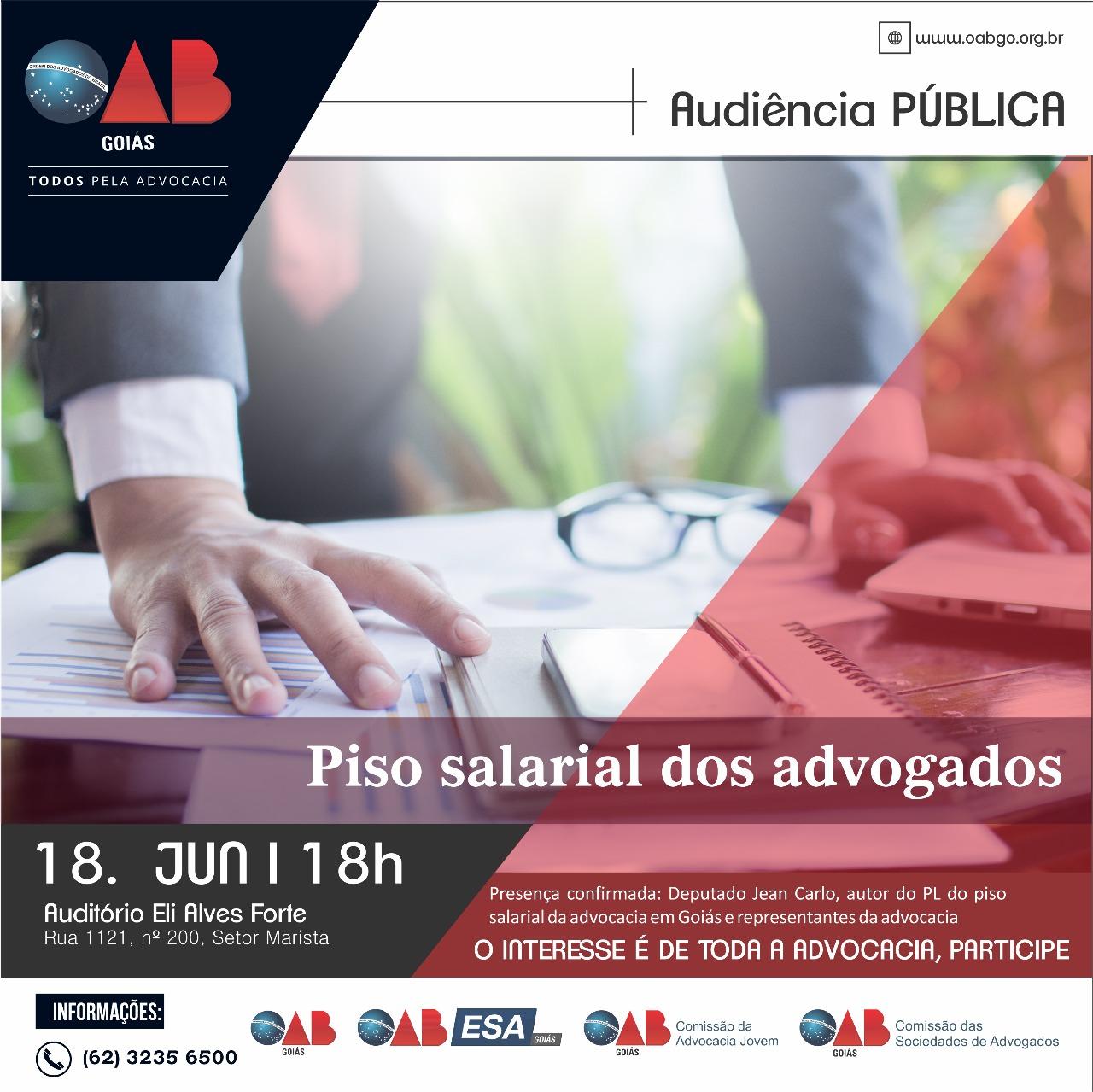 18.06 - Audiência Pública - Piso Salarial dos Advogados