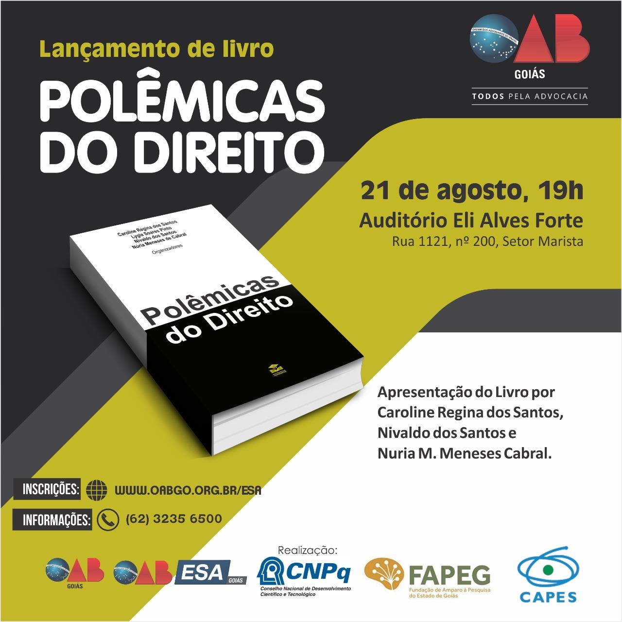 21.08 - Lançamento do Livro Polêmicas do Direito