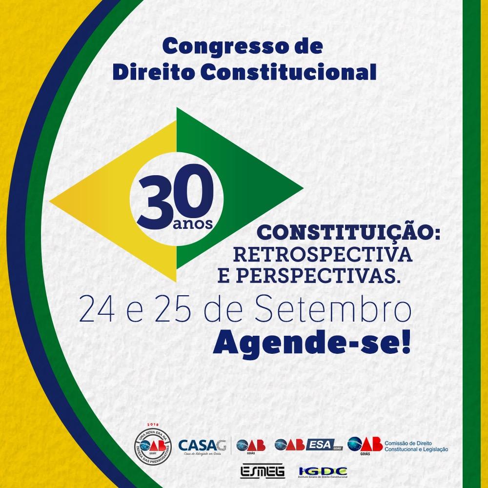 24 e 25.09 - 30 anos da Constituição - Retrospectiva e Perspectiva