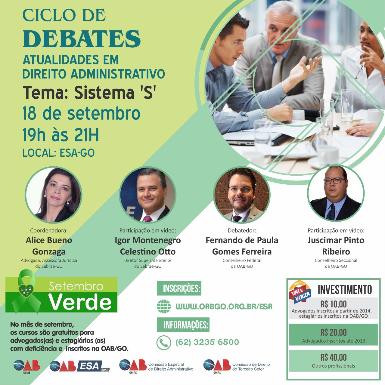 18.09 - Ciclo de Debates: Atualidades em Direito Administrativo - Sistema 'S'