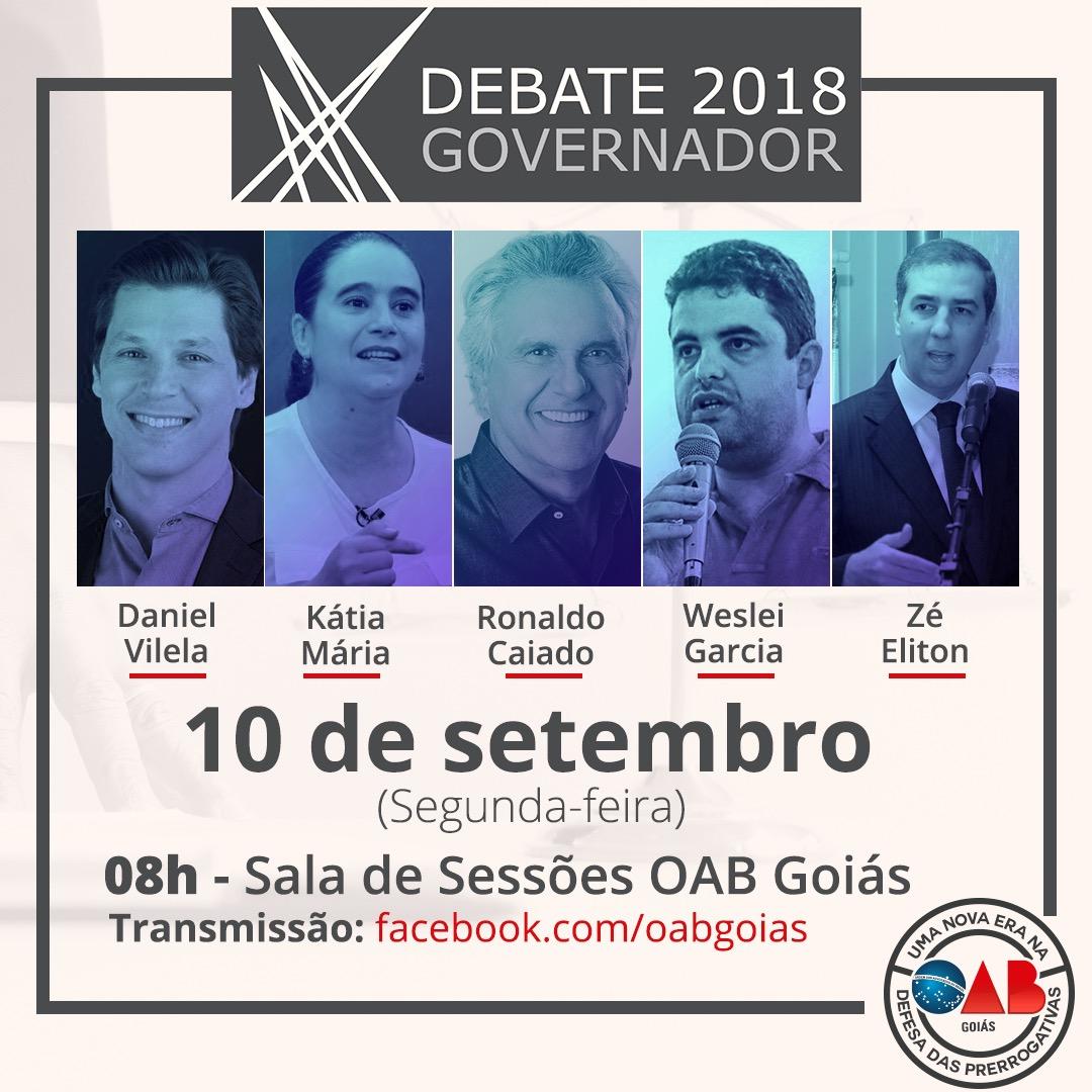 10.09 - Debate: Candidatos a governador