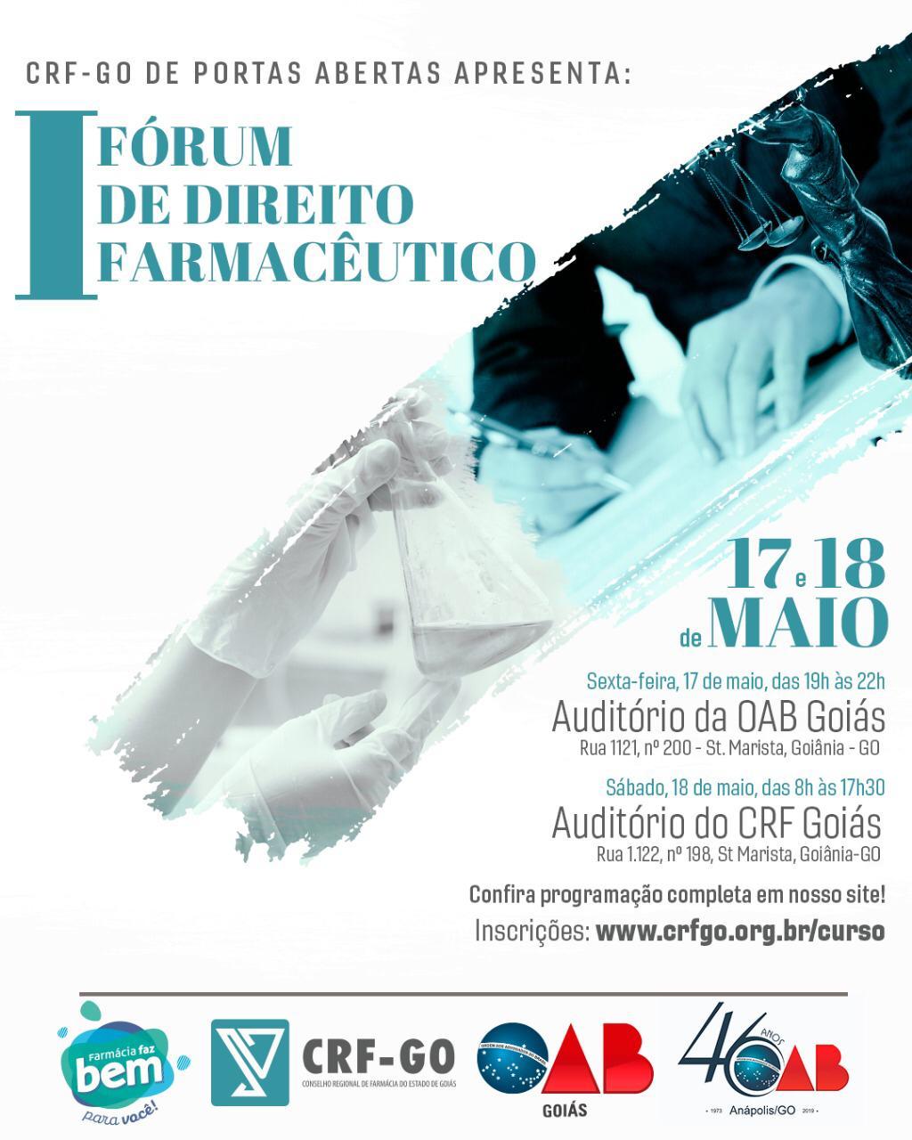 17 e 18.05 - I Fórum de Direito Farmacêutico