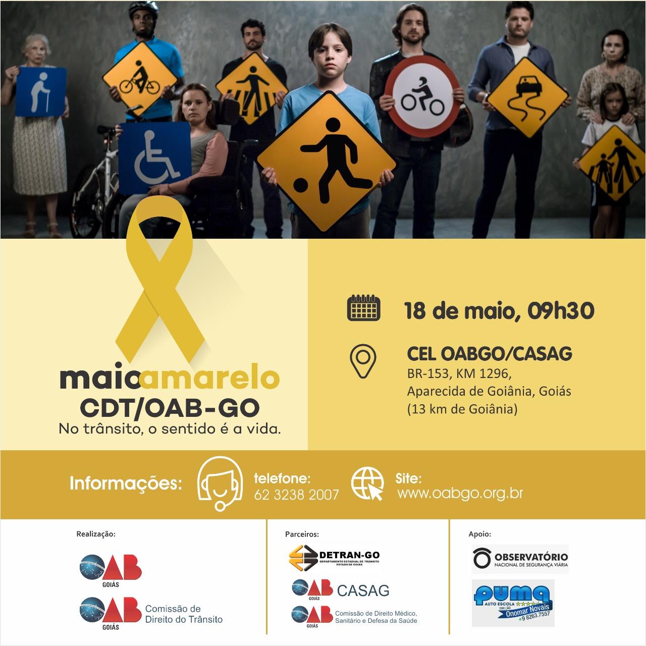 18.05 - Maio Amarelo CDT / OAB-GO