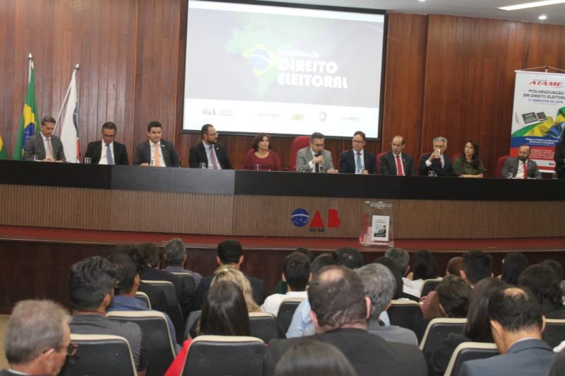 Prestação de contas partidária e Reforma Política marcam abertura do 1º Simpósio de Direito Eleitoral da OAB-GO