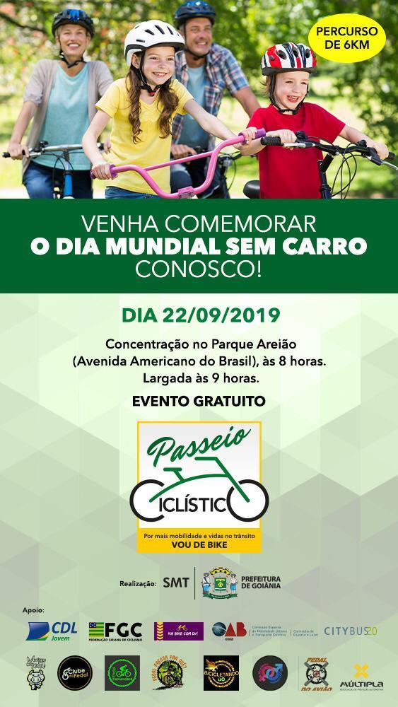 OAB-GO apoia passeio ciclístico em alusão ao Dia Mundial Sem Carro