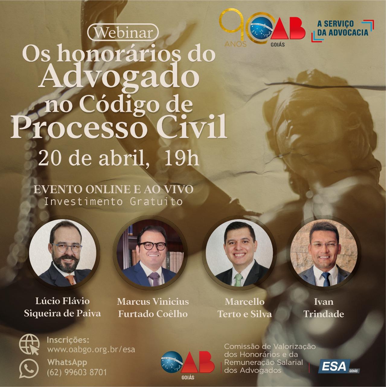 20.04 - Os Honorários do Advogado no Código de Processo Civil